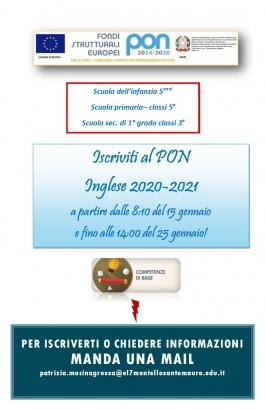 A.4 Iscrizione al PON_inglese locandina
