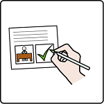 simbolo ARASAAC per sottoscrivere contratto