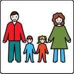 simbolo arasaac di famiglia