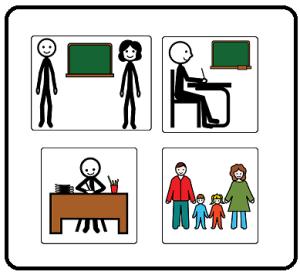 utenti della scuola in simboli ARASAAC