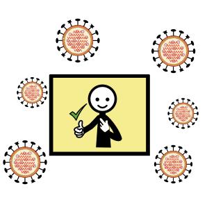 logo CAA per la protezione dal contagio